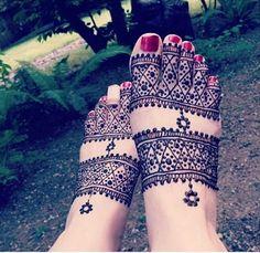 Henna Feet Design #henna #mehndi
