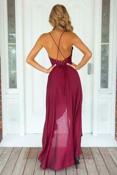 Shining Elegance Maxi Dress (Wine)▶ ▷ ▶ Shop It Now ❤ Xenia Boutique xx
