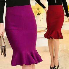 ideas skirt winter midi high waist for 2019 Knit Skirt, Dress Skirt, Long Black Pencil Skirt, Winter Rock, Fishtail Skirt, Mermaid Skirt, Winter Skirt, African Dress, Skirt Outfits