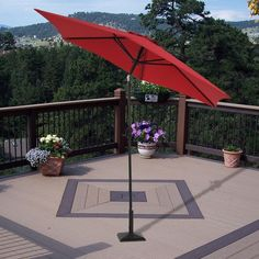 9 ft. market umbrella with brown pole and red canopy for sale at Walmart Canada. Get Outdoor Living online at everyday low prices at Walmart.ca