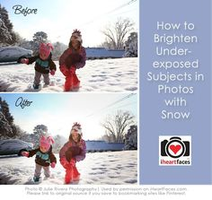 Learn how to brighten up a dark subject against bright background.  {Photoshop Tutorial via iHeartFaces.com}