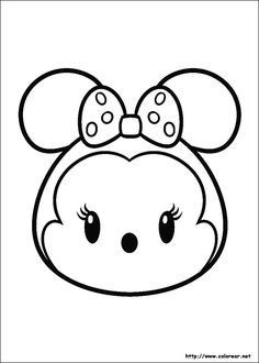 Minnie Mouse Tsum Coloring Pages Printable And Book To Print For Free Find More Online Kids Adults Of