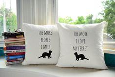 I Love My Ferret Throw Pillows @bekalis