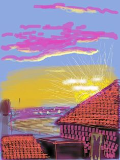 David Hockney  www.artexperiencenyc.com -repinned by http://LinusGallery.com  #art #artists #contemporaryart