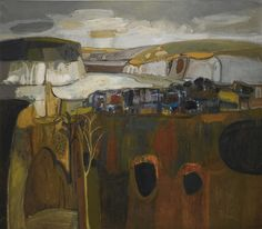 William Gillies (Scottish, 1898-1973), Scottish Landscape, 1968. Oil on canvas.