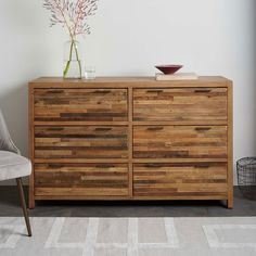 Bay Reclaimed Pine 6-Drawer Dresser - Rustic Natural | west elm