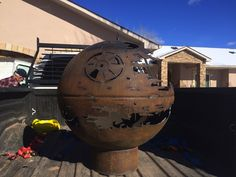 A steel fire pit handcrafted in the likeness of the Death Star has become a Reddit sensation and touched off a new family business. Jennifer Allison, who goes by Bandia5309 on Reddit, received the galactic fire pit as a Christmas gift from her 84-year-old grandfather. He welded the fire pit from discarded propane tank end caps at his home in Farmington, New Mexico. Allison requested the particular design, and her grandfather delivered skillfully — but without really grasping the cultural ...