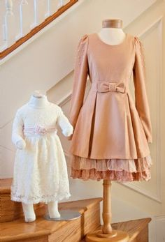 Women's Wintery Vintage Bow Dress Beautiful for Winter Weddings & Family Portraits! Now In Stock - Womens Boutique Clothing - Cassie's Closet Ryu Clothing, Love Clothing, Boutique Clothing, Shabby Chic Dress, Shabby Chic Couture, Vintage Wear, Vintage Dresses, Little Girl Dresses, Girls Dresses