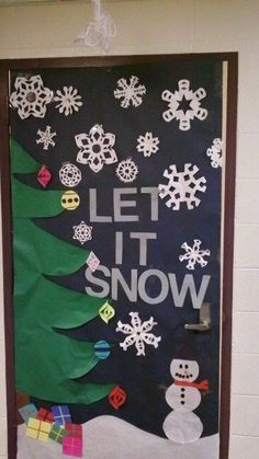Image result for simple door decorations christmas