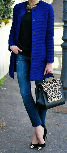 Cobal & animal print