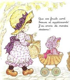 Sara Kay, Holly Hobbie, Decoupage, Wallpapers, Illustration, Flowers, Old Letters, Bom Dia, Dolls