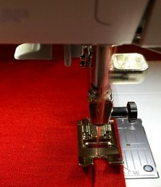 Tip for sewing stretchy, stable hems on knits - tops stitching hem