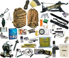 Emergency 72 Hour Survival Kit Bug Out Bag - I'm going to need to get this stuff together and keep it in my car at all times (along with my blankets, tent, and sleeping bag). Just in case...