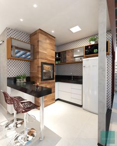 A kitchen as in the countryside, rustic and family! - Home Fashion Trend Apartment Kitchen, Apartment Design, Style At Home, Low Sideboard, Kitchen Words, Sweet Home, Rustic Kitchen, Home Fashion, Cool Kitchens