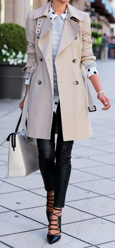 Perfect Chic Trench Coat Fall / Winter Collection 2016 Outfits: