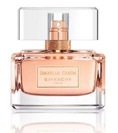 Parfum Eau de toilette de l'été Givenchy Dahlia Divin parfum pour femmes jasmin rosé flacon de parfum rose http://www.vogue.fr/beaute/buzz-du-jour/diaporama/dahlia-divin-la-suite/20910