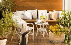 Saca partido a tu terraza, balcón o patio, por pequeño que sea, y disfruta de tu zona privada aprovechando los espacios exteriores.