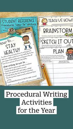 Procedural Writing, Teaching Writing, Writing Activities, Teaching Tips, Writing Tips, Writing Prompts, Organized Teacher, Teacher Organization, English Language