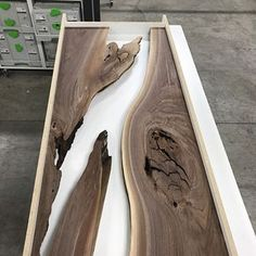 Framed and ready for resin fills. #furniture #design #industrial #mnmade #metal #metalfab #woodandsteel #woodandmetal #woodwork #wood #woodworking #handcrafted #customdesign #metalfab #metalwork #customfurniture #minnesota #minneapolis #water #nofilter #modern #rustic #reclaimed #resin #mississippiriver #river #walnut #coffeetable #festool #festoolme #rivertable #nofilter