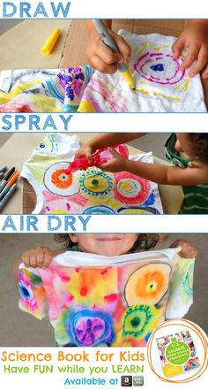 Dissolving Ink and Color Spray Science