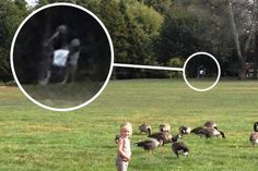 A dad-of-five was left spooked when he spotted two ghostly figures – which he believes are knights – in the back of a photo.