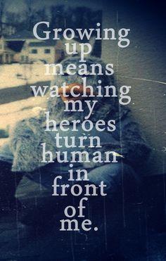 heroes turn human