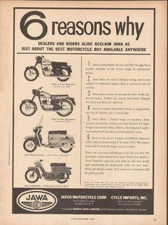 1965 Jawa Motorcycles – 6 Reasons why Motorcycle Price, Vespa Motorcycle, Enfield Motorcycle, Motorcycle Posters, Vintage Cycles, Vintage Bikes, Vintage Motorcycles, Vintage Ads, Vintage Romance