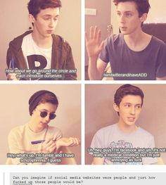 LOVE troye sivan soo much...I love his face (as the therapist) after what facebook says...lol