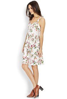 Sweetheart Floral Dress | LOVE21 - 2000087881