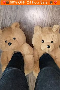 Bear Slippers, Cute Slippers, Winter Slippers, Fluffy Shoes, Looks Halloween, Hype Shoes, Girly Things, Random Things, Shoe Game