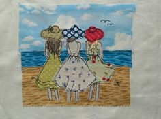Freehand Machine Embroidery, Free Motion Embroidery, Free Motion Quilting, Embroidery Applique, Embroidery Patterns, Quilt Patterns, Fabric Postcards, Fabric Cards, Small Quilts