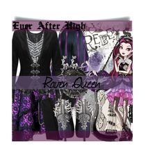 Ever After High Raven Queen by didneyworl on Polyvore featuring Yves Saint Laurent, Ruthie Davis, Mary Frances Accessories, Majorica, Luis Morais, NARS Cosmetics and Manic Panic