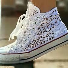 Résultats de recherche d'images pour « zapatillas de plataforma tejidas a crochet »