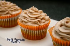 Pumpkin Patch Cupcakes with Cinnamon-Cream Cheese Frosting