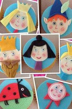 Ben and holly cupcakes toppers