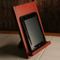 IPad stand Kindle tablet kitchen stand recipe holder desktop chef gift distressed wood primitive