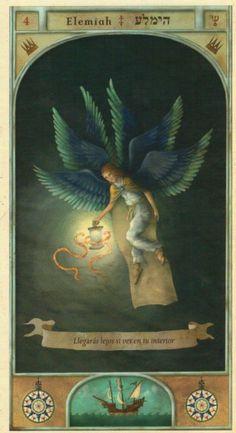 (4) ELEMIAH (Kabbalistic angel) protects those born 5 - 9 April, calms the spirit and wards off bad energy. (ángel Cabalístico) protege aquellos nacidos 5 -9 abril, apacigua el espíritu y aleja las malas energías.