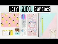 DIY SCHOOL SUPPLIES For Back To School! - YouTube