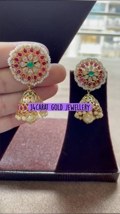 Ear Cuff Jewelry, Gold Jewelry, Gold Necklace, South Indian Jewellery, Indian Jewelry, Heart Ring, Cool Designs, Fashion Jewelry, Sparkle