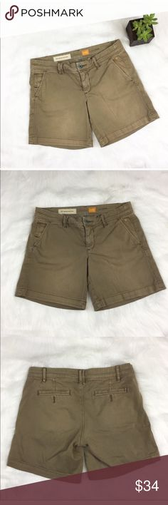 Anthro Pilcro Hyphen Fit Shorts Anthropologie's brand Picro and the Letterpress hyphen fit khaki shorts. Size 25 with 6 1/2' inseam. GUC with no major flaws.  ❌No trades ❌ Modeling ❌No PayPal or off Posh transactions ❤️ I 💕Bundles ❤️Reasonable Offers PLEASE ❤️ Anthropologie Shorts