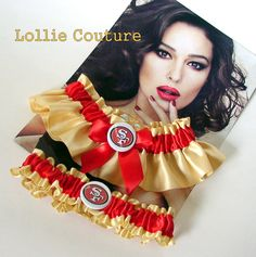 SF 49ers garter wedding garters by lolliecouture on Etsy, $50.00