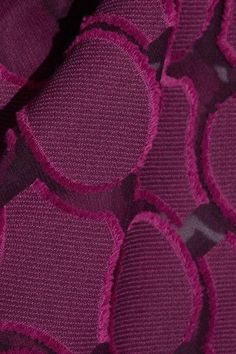 Roland Mouret - Eugene Open-back Draped Fil Coupé Cotton And Silk-blend Top - Plum - UK16