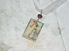 LADY Charm Kette handgelötet Unikat von Vintage Prints auf DaWanda.com