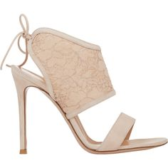 Gianvito Rossi Lace-Inset Sandals at Barneys.com