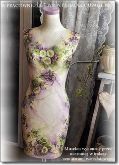 manekin_decoupage Buy used mannequins for your decoupage projects at Mannequin Madness Shabby Chic Mannequin, Mannequin Art, Vintage Mannequin, Dress Form Mannequin, Decoupage, Chic Dress, Mannequins, European Fashion, Dressmaking