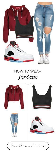 """You Do what you want when you poppin✨"" by daee-x on Polyvore featuring NIKE and Topshop"