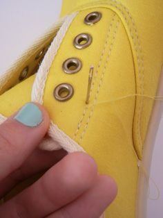 add elastic to make laceless shoes!