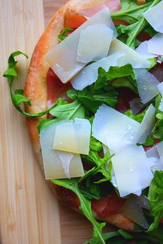 Prosciutto, Arugula, and Parmesan Pizza