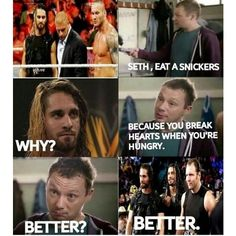 U break hearts when ur hungry. Miss the shield more than everything x Wrestling Memes, Watch Wrestling, Wrestling Superstars, Wrestling Divas, Wwe Quotes, Funny Quotes, Funny Memes, Wwe Raw And Smackdown, Wwe Funny