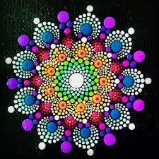 Resultado de imagem para dot mandala painting